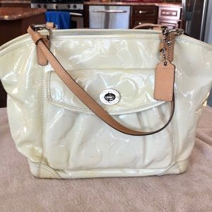 Well used Coach tote.